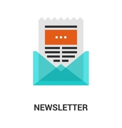 newsletter icon concept vector image