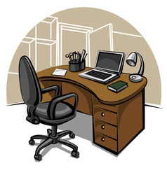 Office work place vector