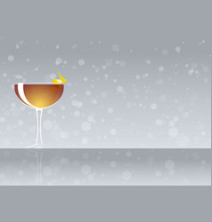 Official cocktail icon the unforgettable between vector
