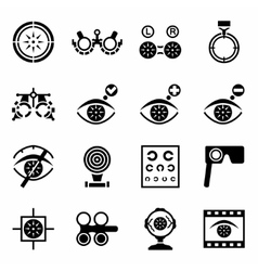 Optometry icon set vector
