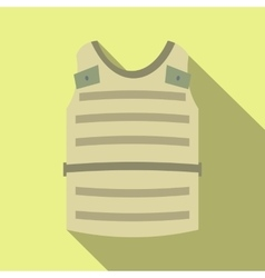 Paintball protective vest flat icon vector