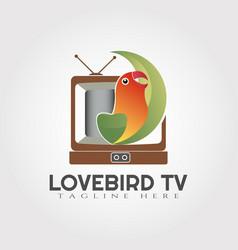 Parrot bird logo design lovebird icon vector
