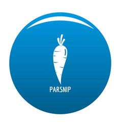 Parsnip icon blue vector