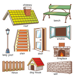 parts of house vector image
