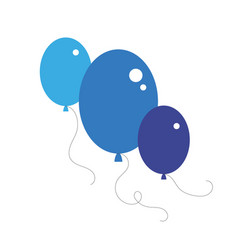 Party balloon icons isolated on white background vector
