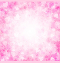 Pink background with hearts for valentines day vector