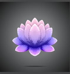 Polygonal Lotus Purple pink gradient vector image