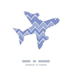 Purple drops chevron airplane silhouette pattern vector