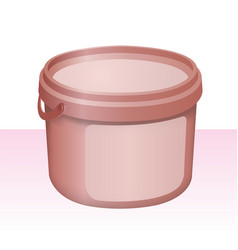 red plastic bucket vector image