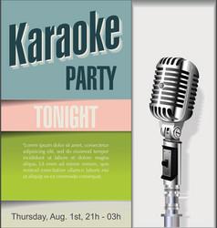 retro vintage microphone karaoke background 3 vector image