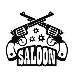 Saloon pistol logo simple style vector