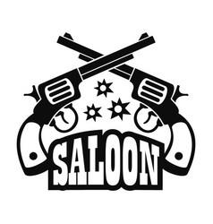 saloon pistol logo simple style vector image
