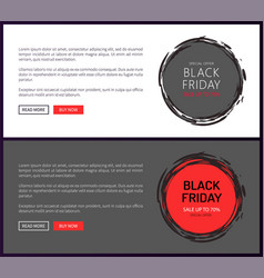 save up to 70 percent on black friday price tags vector image