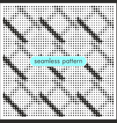 seamless patterns with halftone dots 9 vector image
