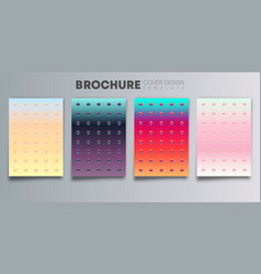 set colorful gradient cover with color dots vector image