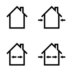 Set icons construction home repair outdoor vector