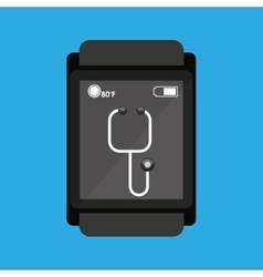 Smartwatch device health stethoscope vector