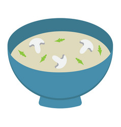 soup flat icon food and drink bowl sign vector image