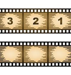 Striped blank film strip vector