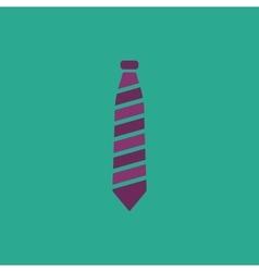 Striped necktie icon vector