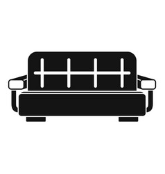 stripped sofa icon simple style vector image