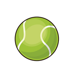 tennis ball sport play equipment image vector image
