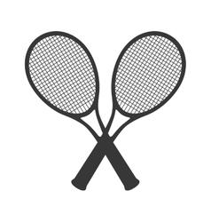 Tennis racket equipment icon vector