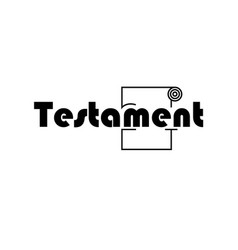 Testament text logo black and white vector