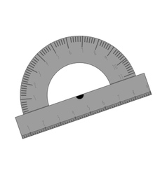 transporter ruler for drawing icon vector image