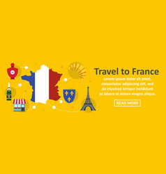 travel to france banner horizontal concept vector image