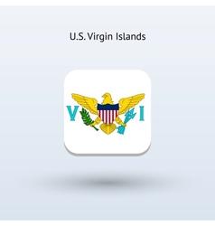 US Virgin Islands flag icon vector