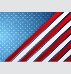 usa colors abstract bright corporate background vector image