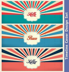 Vintage Cover Design Template vector image