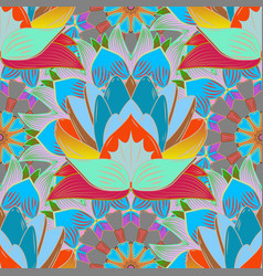 Watercolor seamless pattern beautiful pattern for vector