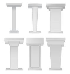 white podium tribune rostrum stands on vector image