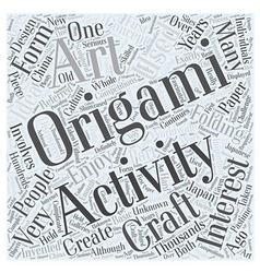 Who Might Enjoy Origami Word Cloud Concept vector