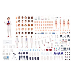 Woman scientist or scientific laboratory worker vector