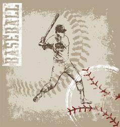 batter base ball crack vector image
