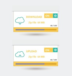 Download And Upload 8 vector image