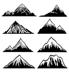 highlands mountains silhouettes with snow vector image