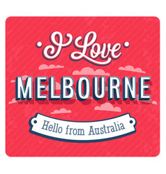 vintage greeting card from melbourne vector image vector image
