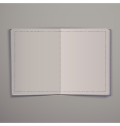 Blank open magazine or book mock up template vector