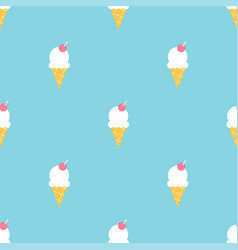 colorful ice cream summer seamless pattern vector image