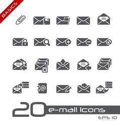 Email Icons Basics vector image vector image
