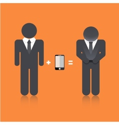 flat modern business background Eps 10 vector image