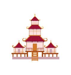 japanese chinese asian traditional pagoda vector image