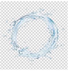 water splash circle vector image