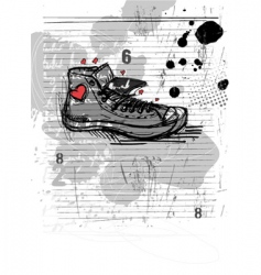 abstract shoe vector image vector image
