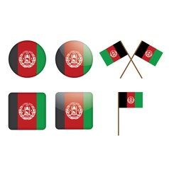 badges with flag of Afghanistan vector image