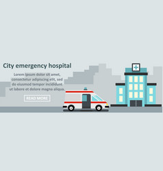city emergency hospital banner horizontal concept vector image